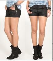 shorts,denim coated,shorts denim,black shorts denim coated