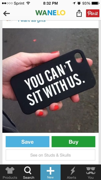 phone cover black matte tumblr you can't sit with us
