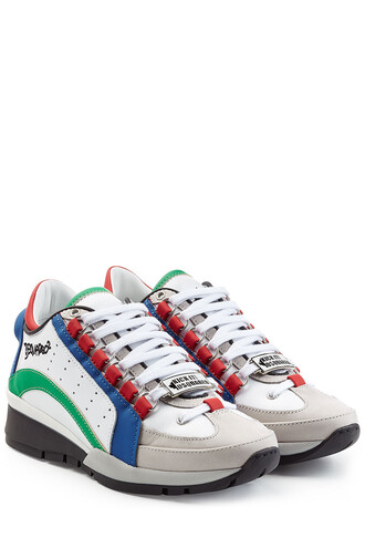 sneakers leather multicolor shoes
