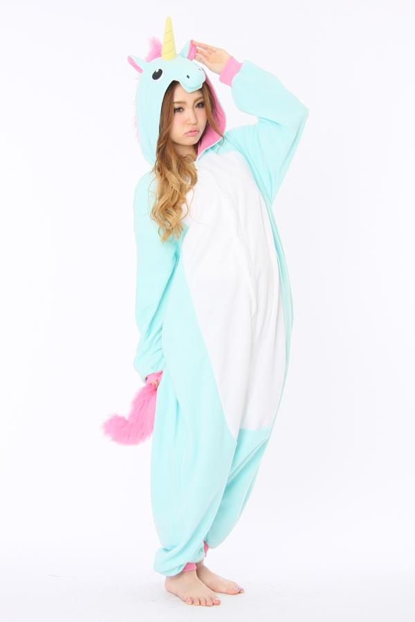 Blue Unicorn Animal Pajama With Yellow Horn