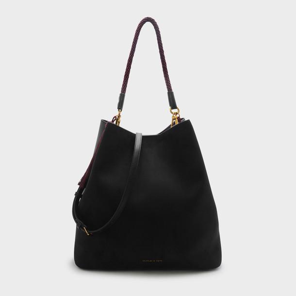 tassel bag shoulder bag black