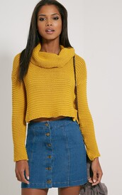 sweater,mustard,jumper,mustard sweater,wool,knit,knitwear,atumn,fall outfits,aw15,turtleneck sweater,cropped sweater