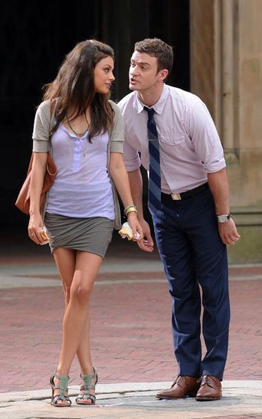 skirt great grey t-shirt grey beanie sexy friends mila kunis timberlake good top t-shirt blouse lilac purple nice dress cotton jacket shirt shoes