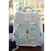 bag,map print,rucksack,globe