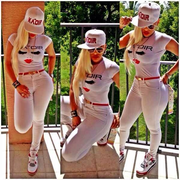 shirt keyshia kaoir hat nail polish jeans