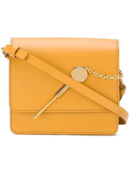 Sophie Hulme women bag shoulder bag leather yellow orange
