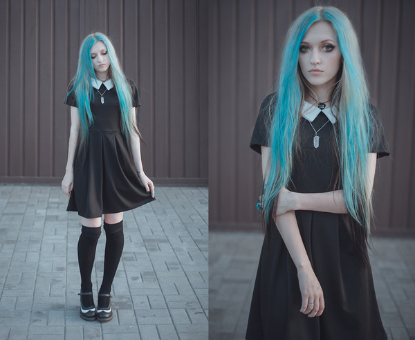 dress short dress creepers goth lolita lolita dress black shoes pumps