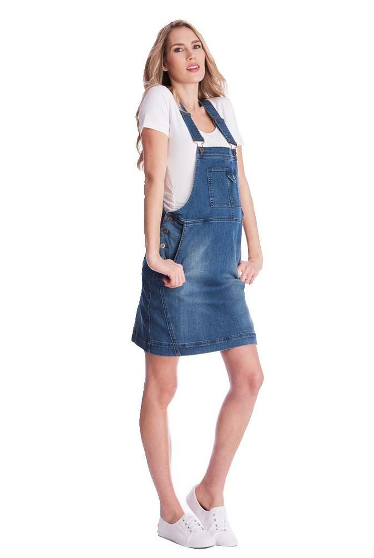 Seraphine Alliah Denim Dungaree Maternity Dress at Amazon ...