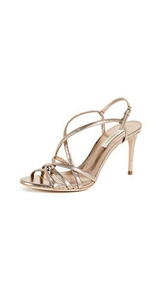 strappy pumps tan shoes