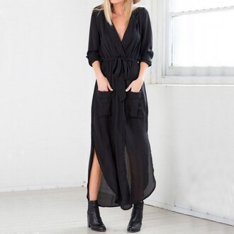 dress women v-neck long sleeve maxi dress women maxi dress lovely sexy black camouflage army green army green dress sexy dress summer party fashion girl girly loose dress shoes black dress summer party dress