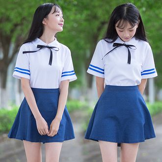 blouse korean fashion korean style school girl school uniform school outfit high school white blouse white white top ulzzang cute kawaii cosplay