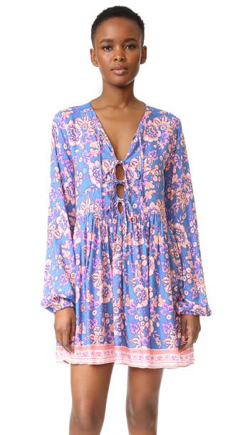 Tiare Hawaii Dahlia Swing Dress - Folk Bright Blue