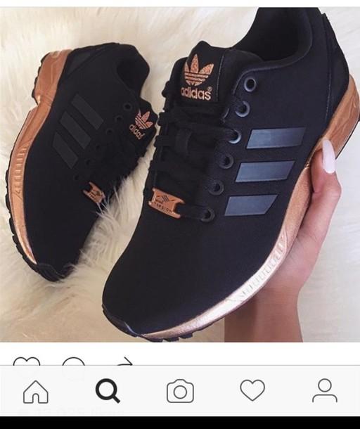 6d960a061a56d shoes adidas zx flux black gold