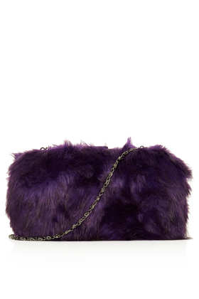 Fur Box Bag - Bags & Purses  - Bags & Accessories  - Topshop