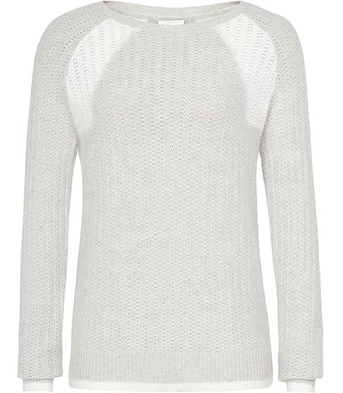 Creilia Neutral Two Tone Jumper - REISS