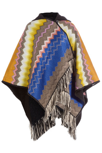 poncho knit chevron multicolor top