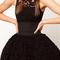 Fashion sleeveless high waist tutu hem lace dress