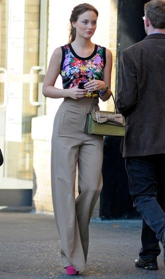 blouse blair waldorf leighton meester floral colorful gossip girl
