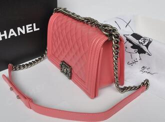bag pink chanel rose