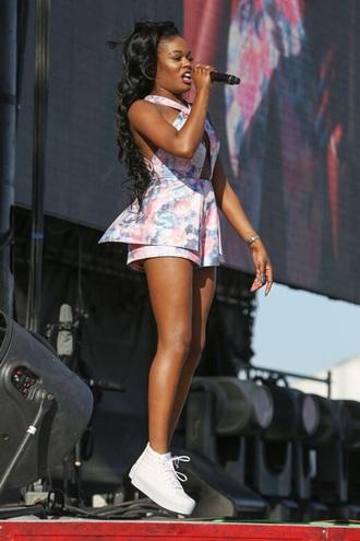 shoes azealia azealia banks white sneakers dress skirt girl woman menswear boy women coachella