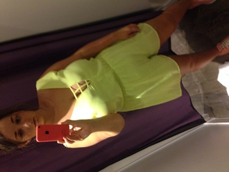 clothes jumpsuit playsuit neon green topshop women's clothes dungaree thecarriediaries carrie