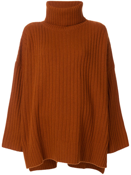 Joseph sweater oversized women wool brown