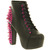 Jeffrey Campbell LITA PLATFORM ANKLE BOOT BLACK LTHR PINK SPIKES Shoes - Womens Ankle Boots Shoes - Office Shoes