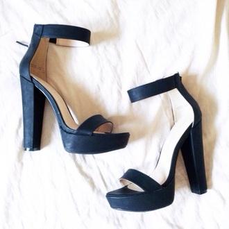 shoes high heels high heel black black heels high heel sandals heels pumps