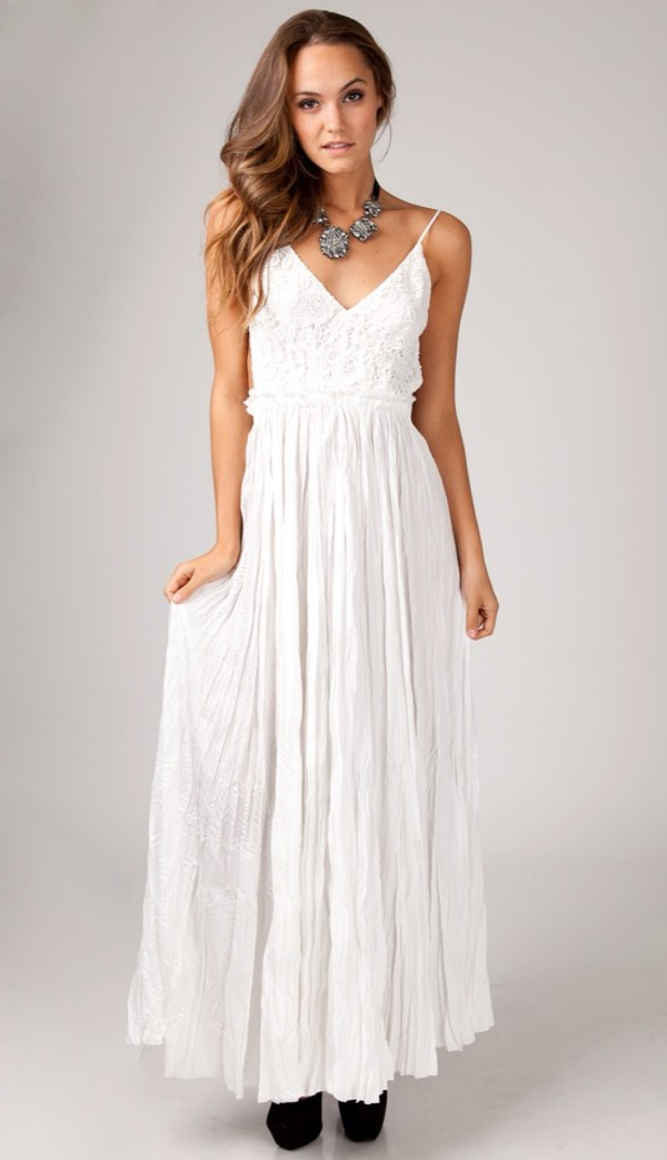 crochet maxi dress prom dress white dress