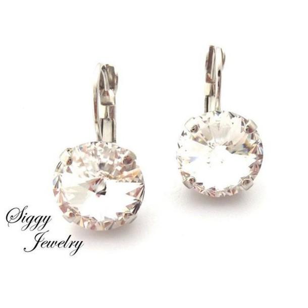 7af7b713a jewels siggy jewelry swarovski earrings clear crystal glamour bridal  wedding bridal jewelry wedding dress bridesmaid fashion