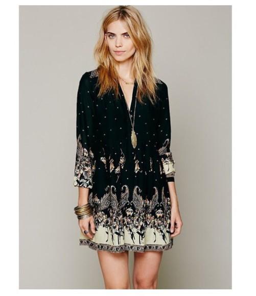 style pattern shirtdress