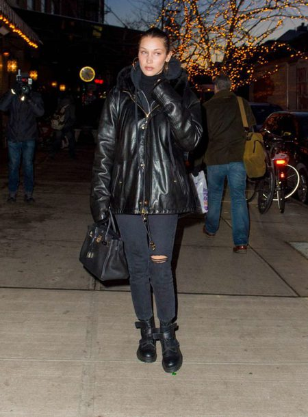 jeans jacket black winter jacket bella hadid
