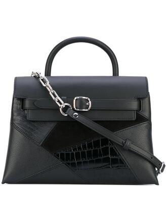 women leather suede black bag