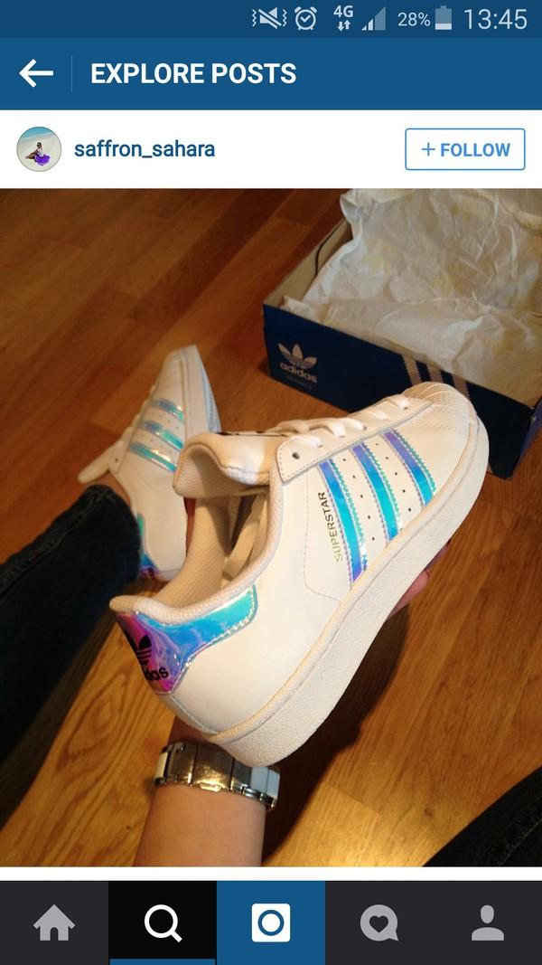 Adidas Superstar Ragazze Silver Formatori.