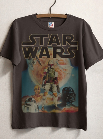 t-shirt nerd geeky geek star wars grey t-shirt