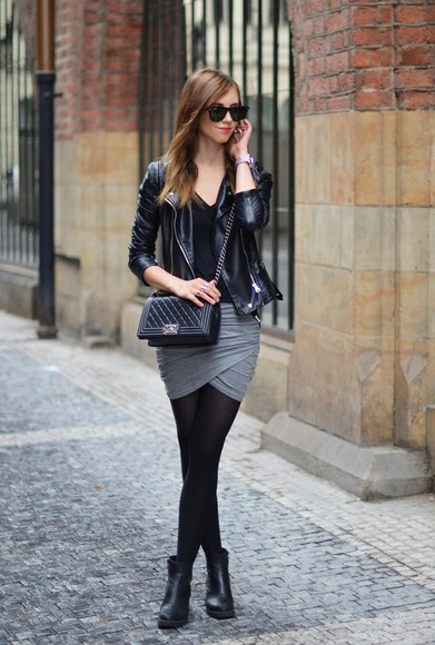 jewels blogger sunglasses shoes bag skirt jacket vogue haus tights