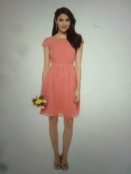 dress pink blush chiffon dress