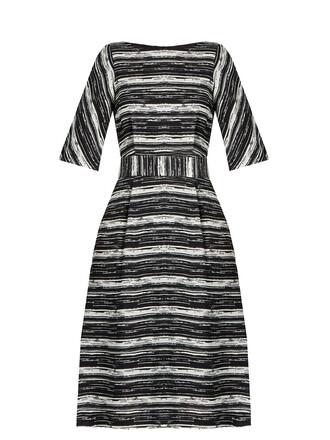 dress striped dress white black