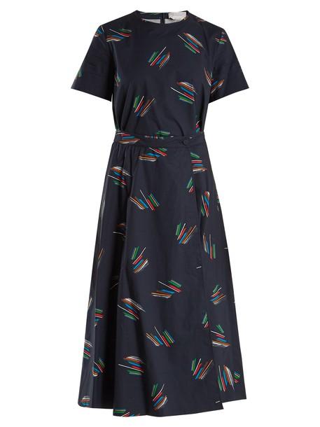 Gabriela Hearst dress cotton print navy