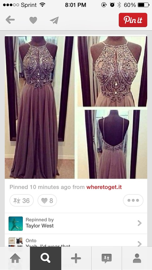 dress evening dress dark nude long formal dress