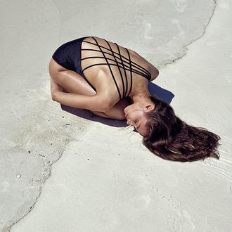 swimwear one piece swimsuit one piece strappy one piece strappy bathing suit black straps