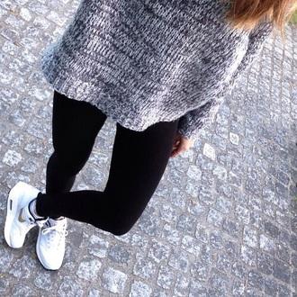 grey sweater black grey sweatpants black t-shirt black jeans leggings air max air jordan style sweater grunge winter sweater winter outfits winter jacket sweather weather grey blonde hair blond salad