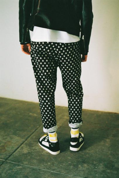 pants polka dots