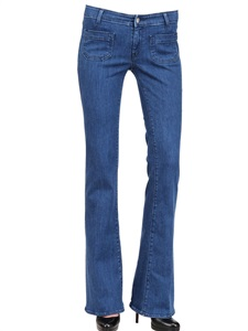 Stone wash slim stretch denim jeans