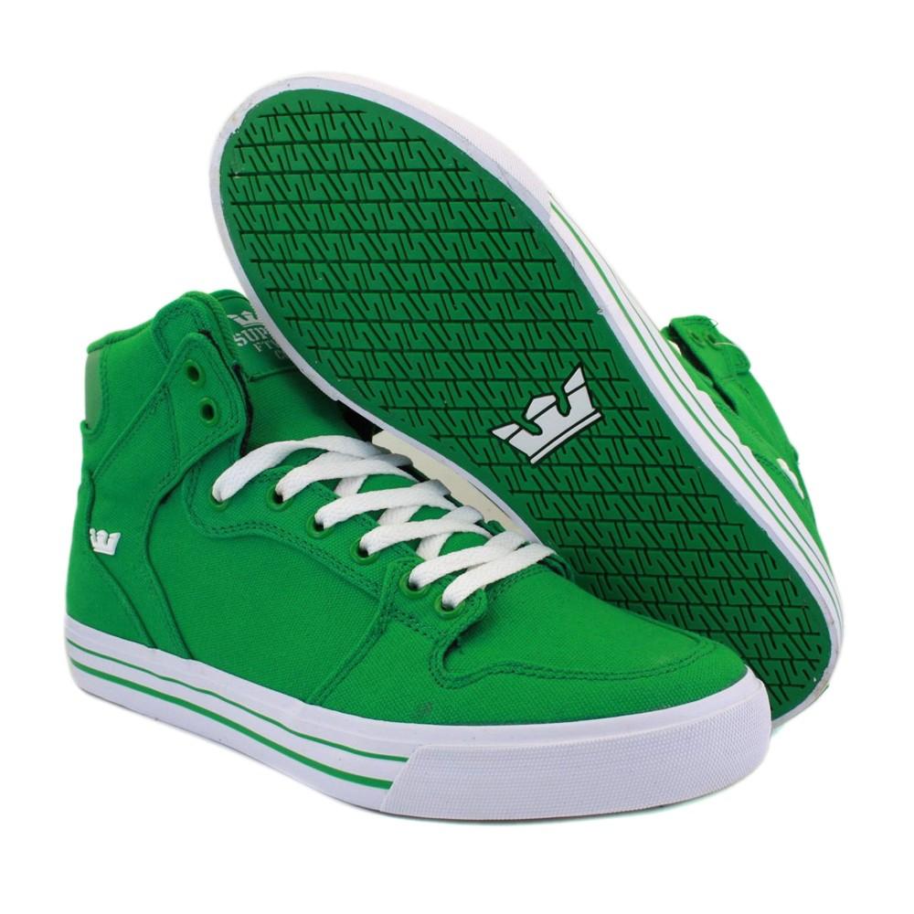 Supra Vaider Trainers Green White S28142 | eBay