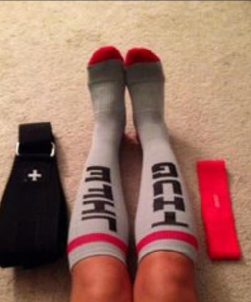 socks thug life rouge chaussettes femme girl swag