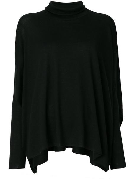 Lamberto Losani sweater turtleneck turtleneck sweater women black silk wool