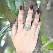 jewels,sterling silver,ring,stcacking,knuckle ring,boho chic,sterling silver rings,sivalya