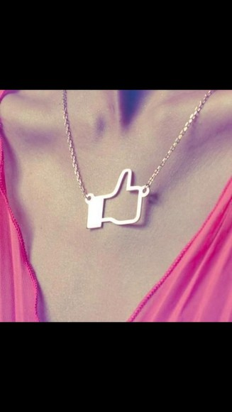 jewels facebook like necklace charm fashion squad silver