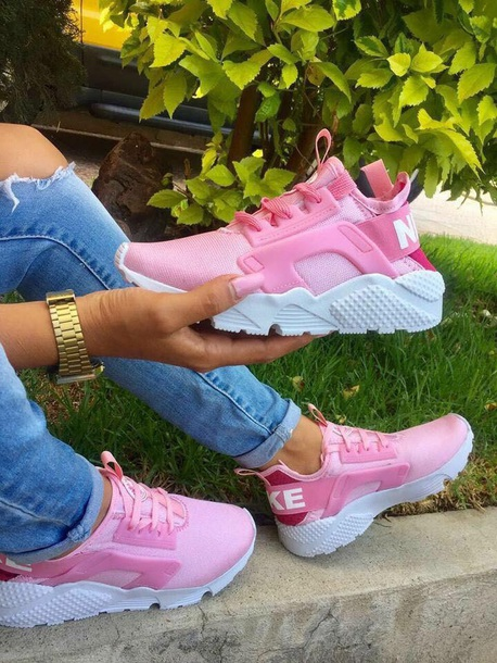 af558bd97558 shoes pink nike white soft sneakers comfy huarache nike hurraches